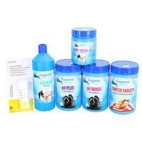 Bazénová chemie - IV.Set na chlorové ošetření vody (Triplex tablety, pH-, pH+, Algicid, Vločkovací tablety, tester)