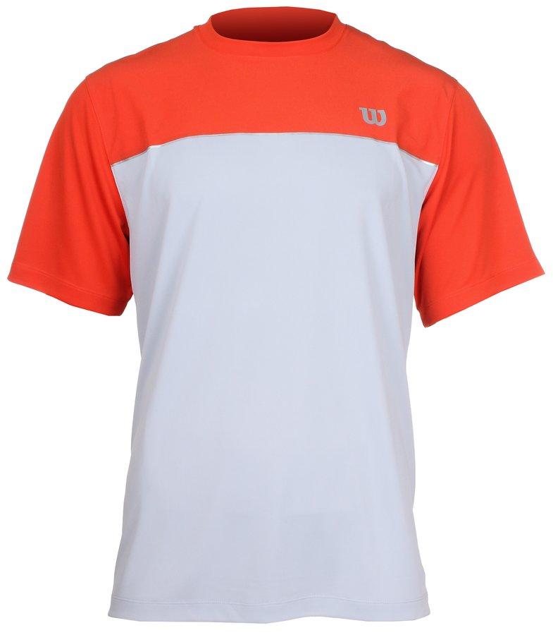 Červeno-šedé pánské tenisové tričko Wilson