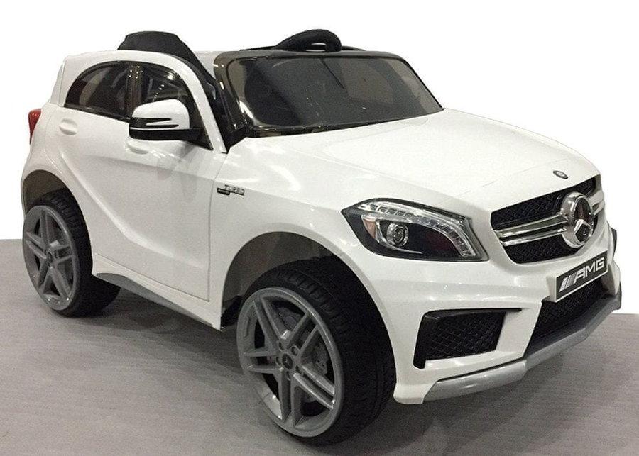Bílé dětské elektrické autíčko Mercedes-Benz A 45 AMG, Beneo