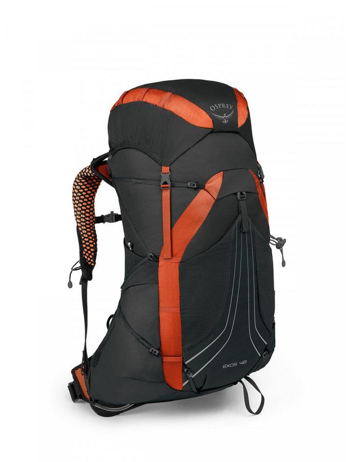 Batoh - Batoh Osprey Exos 48 Velikost zad batohu: L / Barva: černá