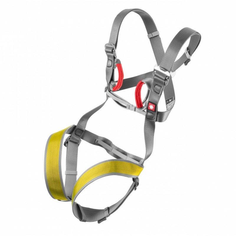 Šedo-žlutý dětský horolezecký úvazek Ocún