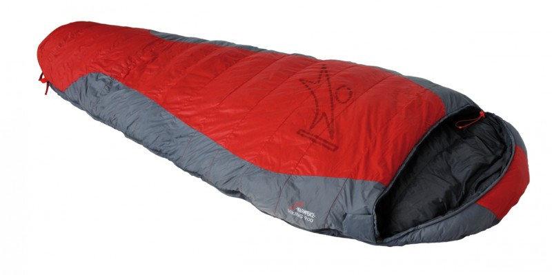 Červený spací pytel Warmpeace - délka 195 cm