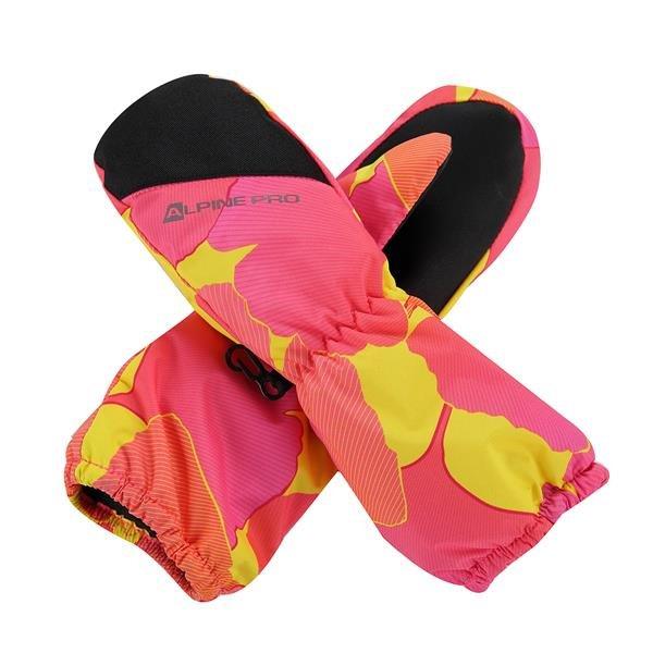 Růžové dětské dívčí zimní rukavice Alpine Pro