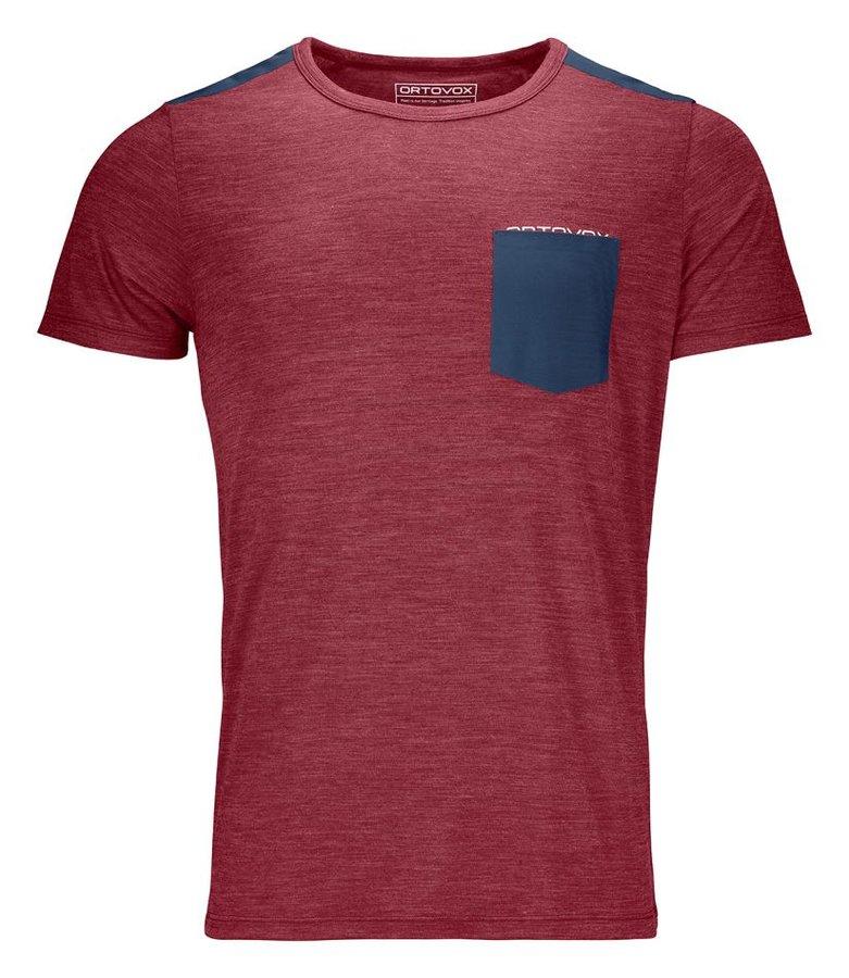 Červené pánské turistické tričko s krátkým rukávem Ortovox