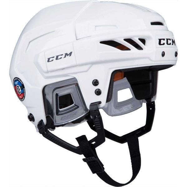 Bílá hokejová helma CCM - velikost S