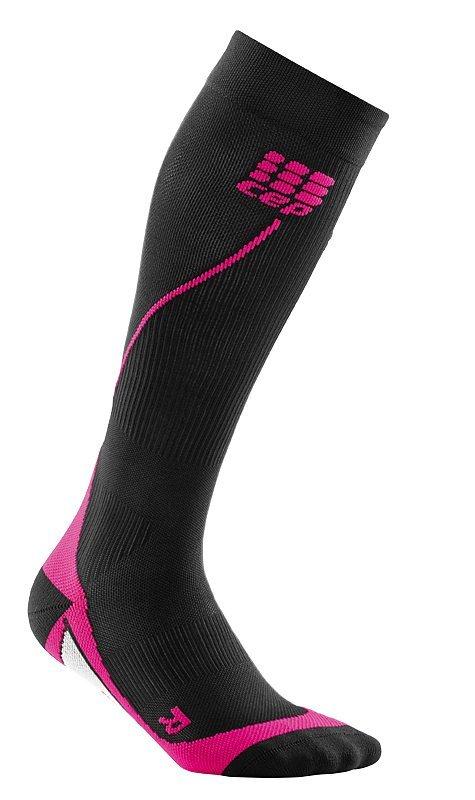 Černé vysoké dámské běžecké ponožky CEP - univerzální velikost