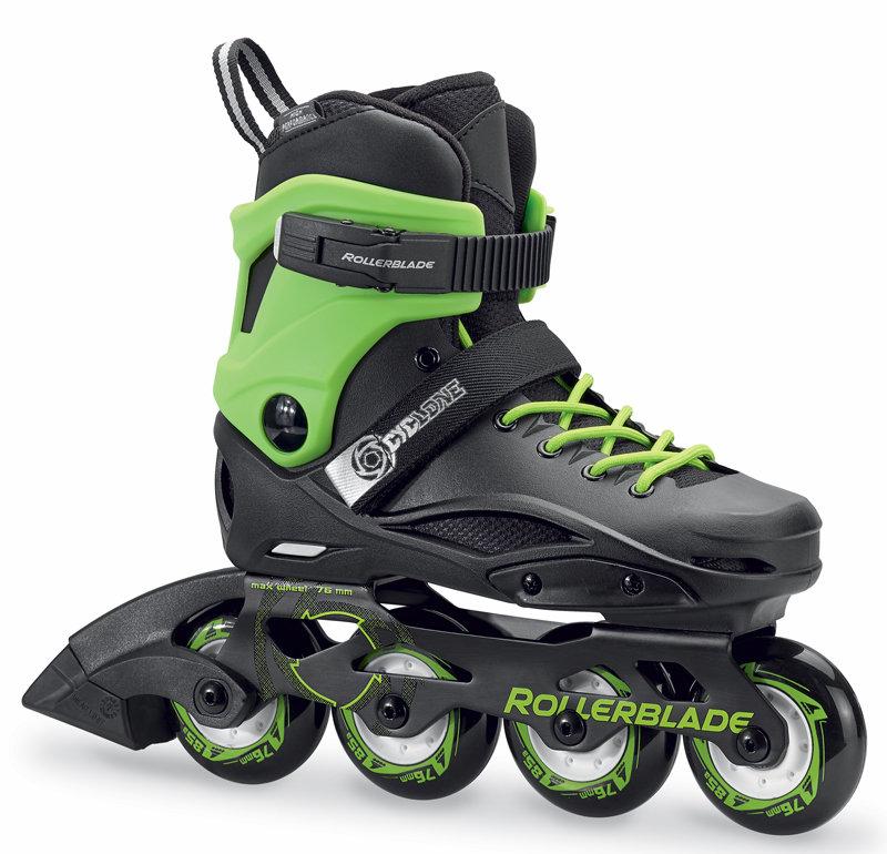 Černo-zelené dětské kolečkové brusle Rollerblade - velikost 31-33 EU