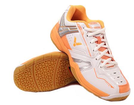 Bílo-oranžové dámské sálová obuvi SH-A320L, Victor