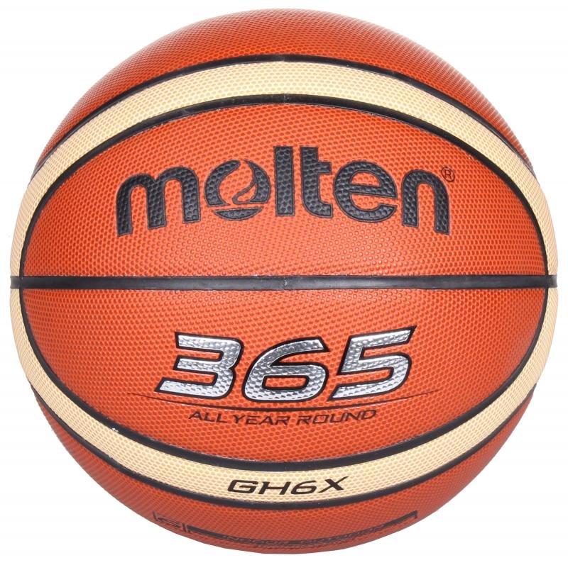 Hnědo-žlutý basketbalový míč BGE6, Molten - velikost 6