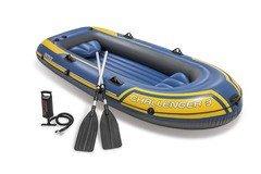 Modrý nafukovací člun pro 3 osoby INTEX