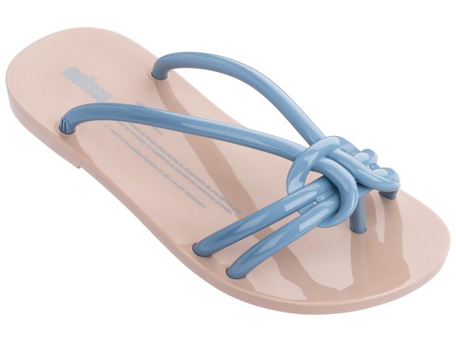 Žabky - Melissa béžové žabky Saudade Beige/Blue - 38