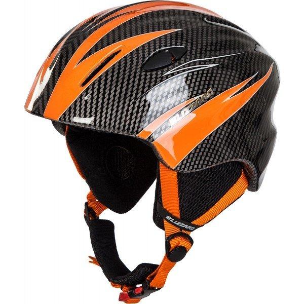 Černo-oranžová dětská lyžařská helma Blizzard - velikost 48-52 cm