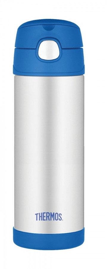 Modrá termoska na pití Funtainer, Thermos - objem 0,47 l