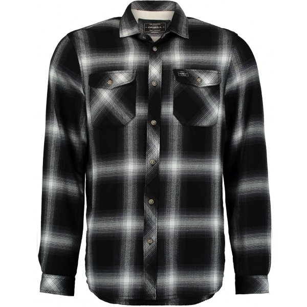 Bílo-černá pánská košile s dlouhým rukávem O'Neill - velikost S