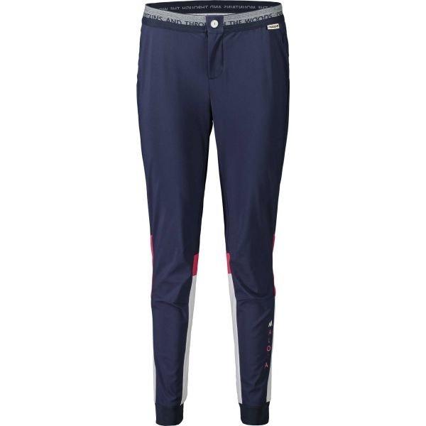 Modré dámské kalhoty na běžky Maloja