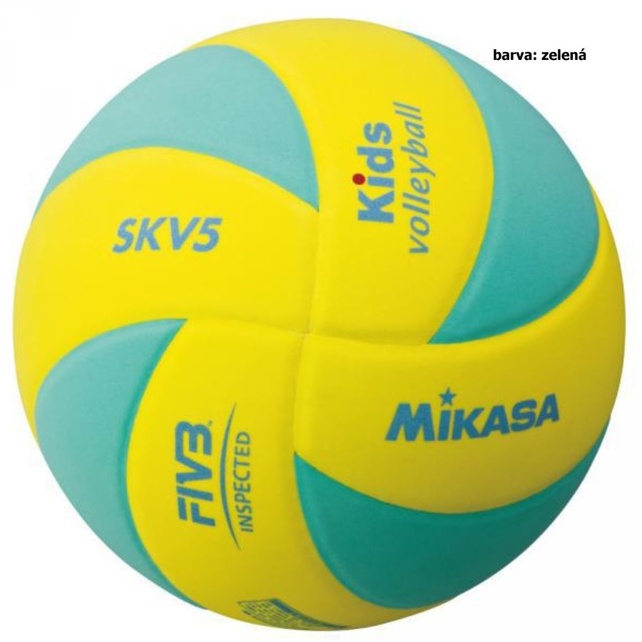 Modro-žlutý volejbalový míč SKV5, Mikasa - velikost 5