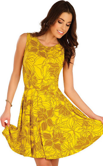 Žluté dámské šaty Litex
