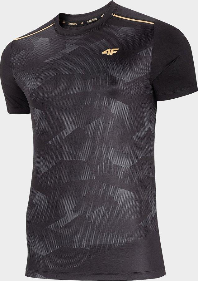 Šedé pánské funkční tričko s krátkým rukávem 4F