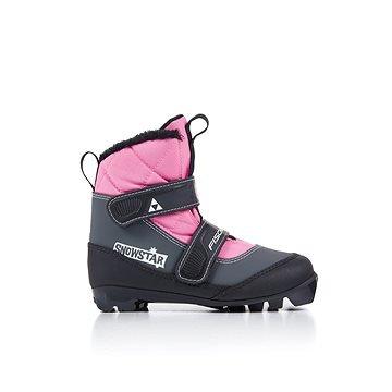 Růžové dětské boty na běžky Fischer - velikost 32 EU
