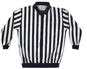 Černý, bílý nebo bílo-černý dres pro hokejového rozhodčího Bail - velikost XXL