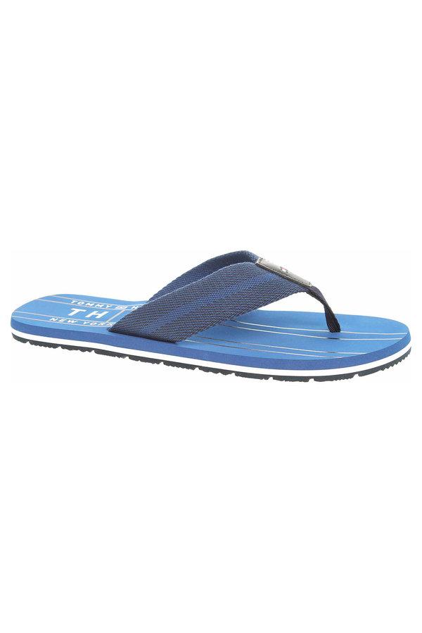 Modré pánské pantofle Tommy Hilfiger - velikost 42 EU