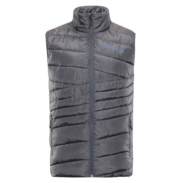 Šedá zimní pánská vesta Alpine Pro