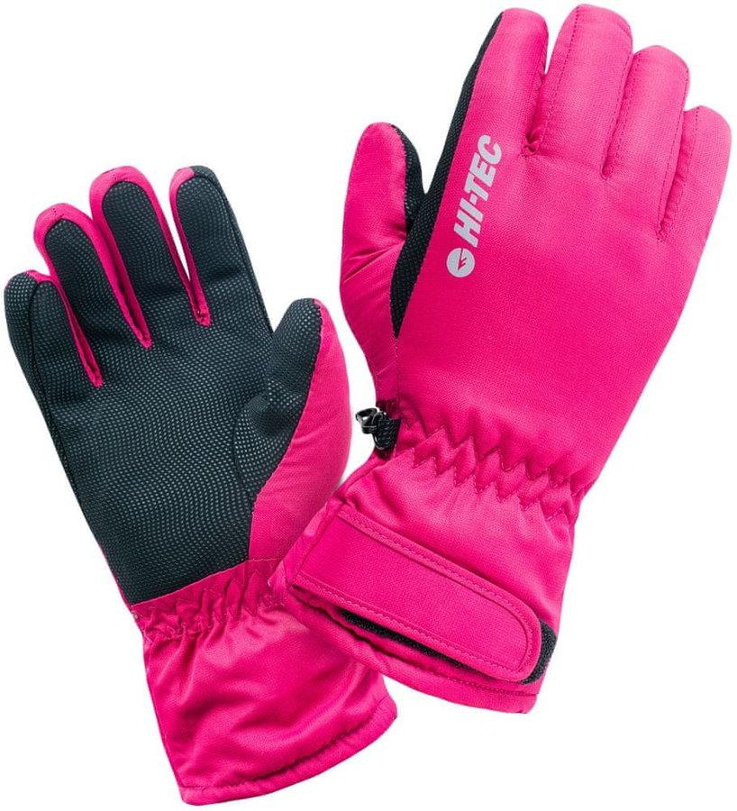 Růžové dámské lyžařské rukavice Hi-Tec