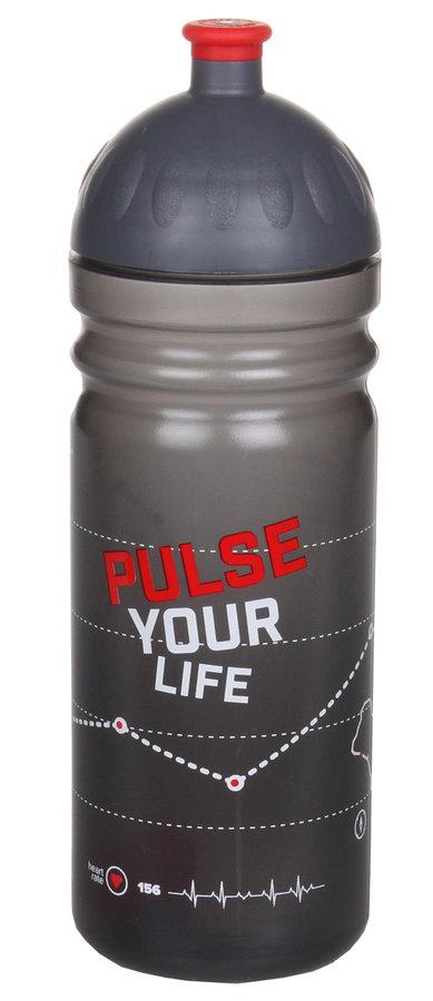 Černá láhev na pití Pulse, R&B - objem 0,75 l