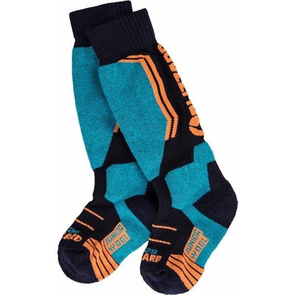 Modro-oranžové dětské lyžařské ponožky Blizzard