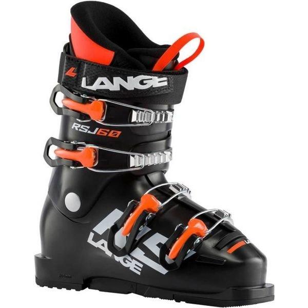 Černé dětské lyžařské boty Lange - velikost vnitřní stélky 26 cm