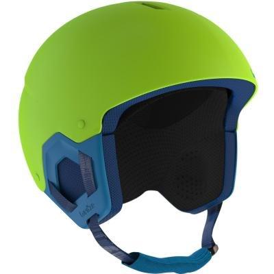 Zelená dětská lyžařská helma Wed'ze