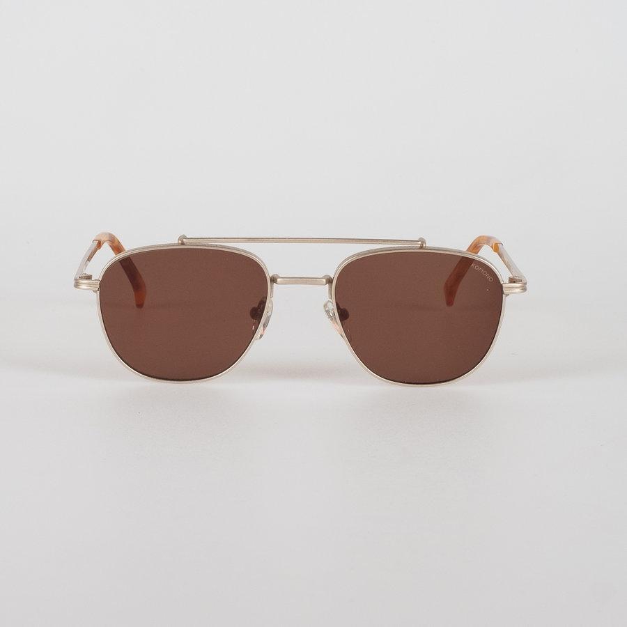 Zlatá polarizační dámská sluneční brýle Crafted Alex, Komono