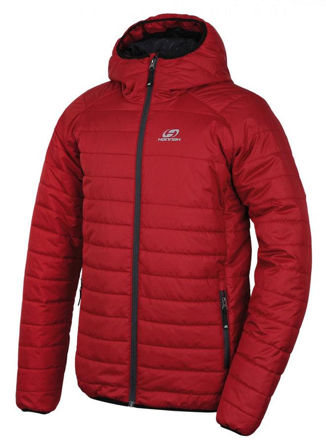 Červená zimní pánská bunda s kapucí Hannah - velikost XXL