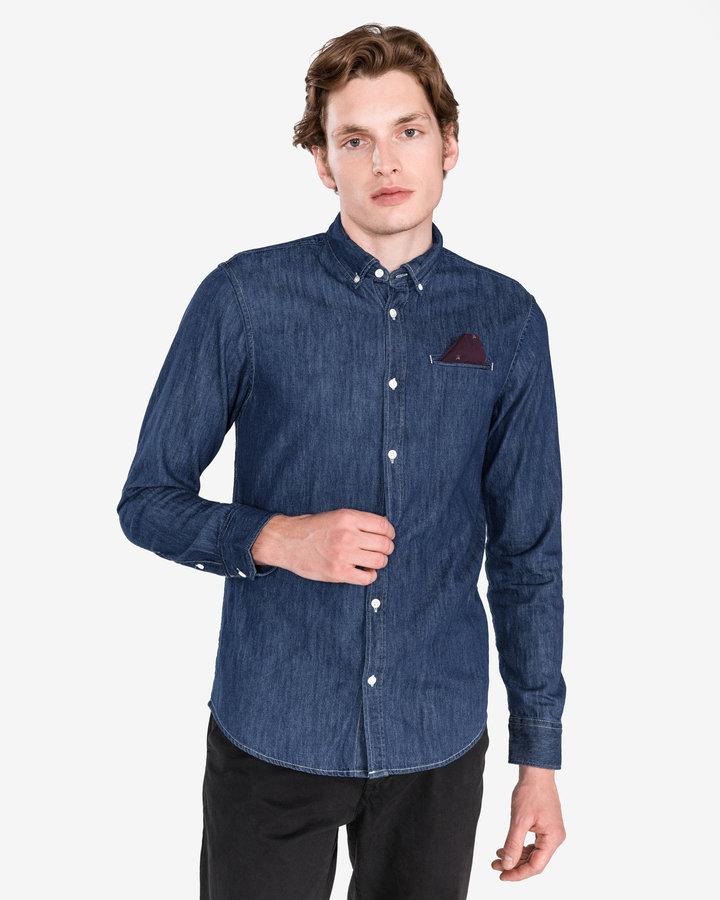 Modrá pánská košile s dlouhým rukávem Scotch & Soda