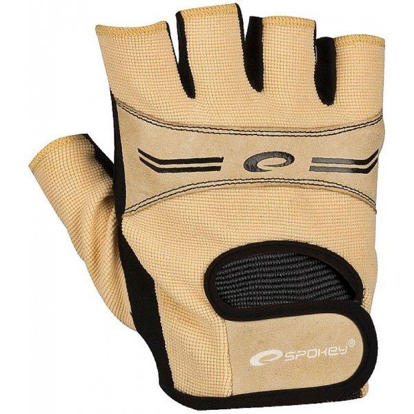 Béžové dámské fitness rukavice Spokey