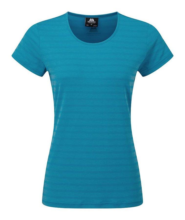 Modré dámské turistické tričko s krátkým rukávem Mountain Equipment