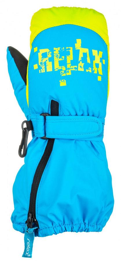 Modro-žluté dětské zimní rukavice Relax - velikost 6-8