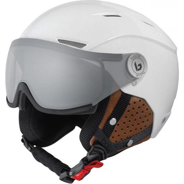 Bílá lyžařská helma Bollé - velikost 56-58 cm