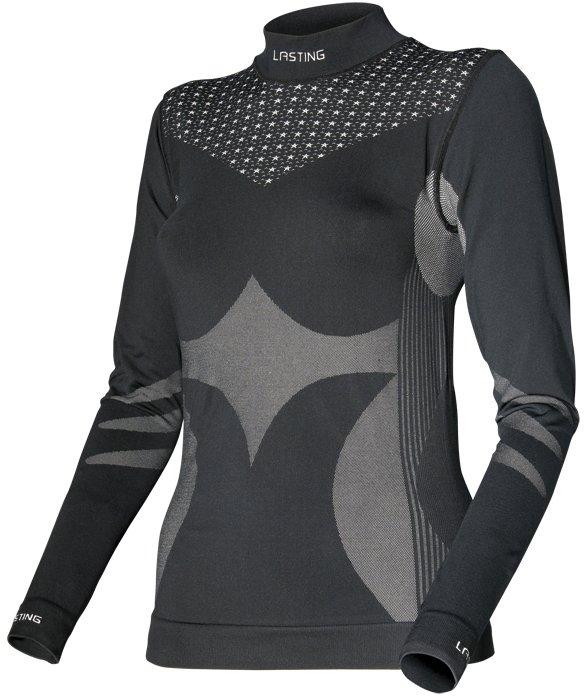 Černé dámské tričko s dlouhým rukávem Lasting - velikost 3XL