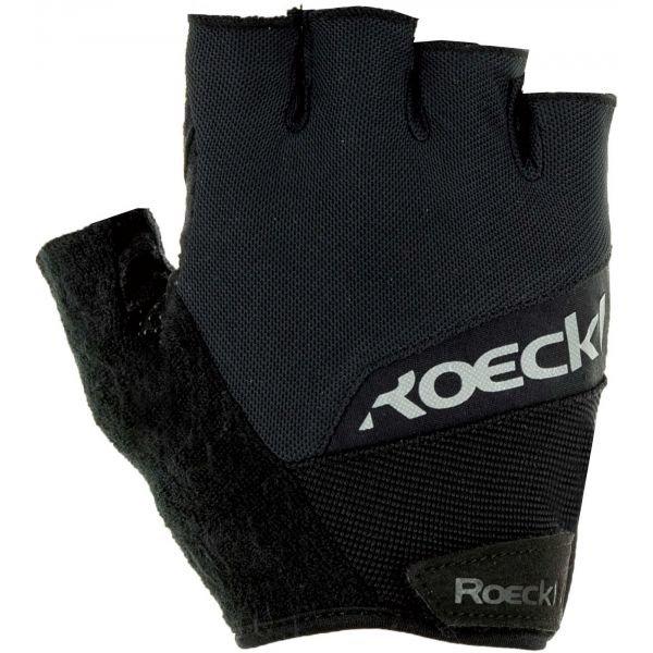 Černé cyklistické rukavice Roeckl