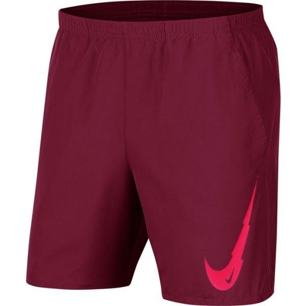 Červené pánské běžecké kraťasy Nike