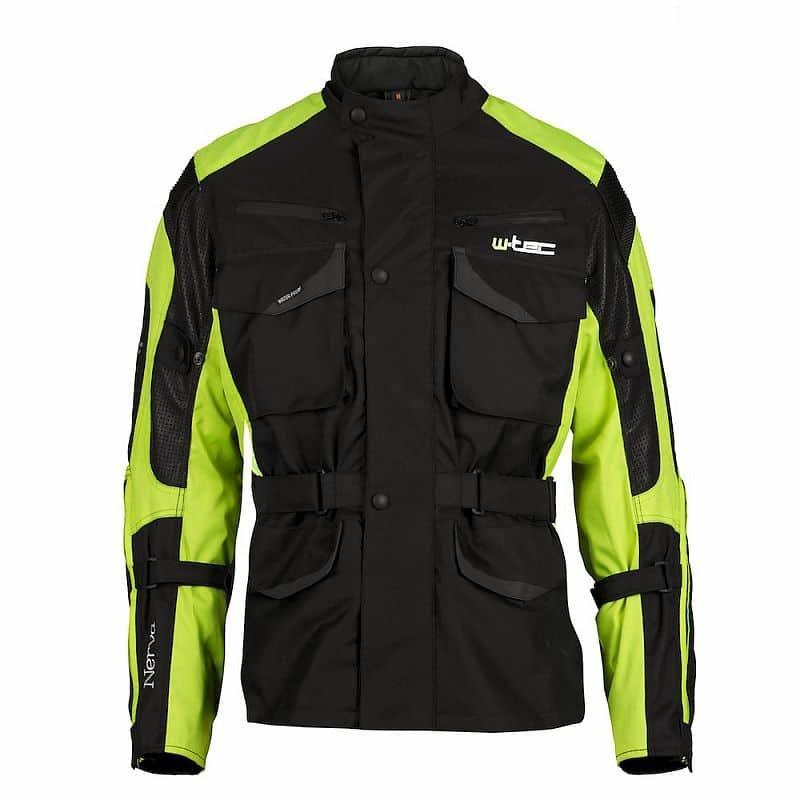 Černo-zelená motorkářská bunda Nerva, W-TEC