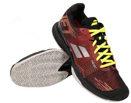 Černo-červená pánská tenisová obuv Jet Mach II Clay, Babolat