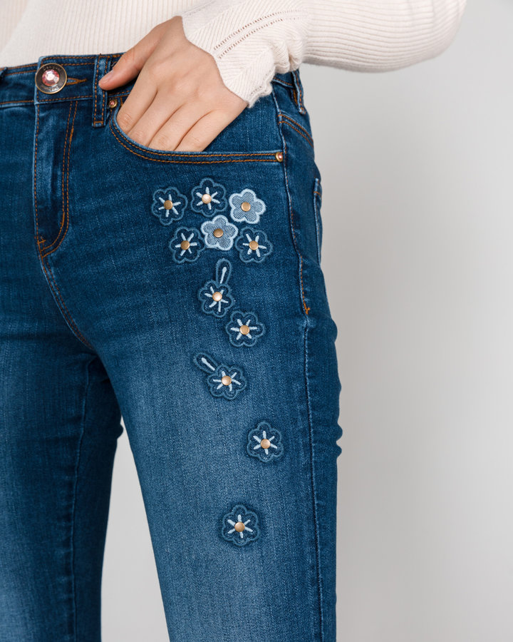 Modré dámské džíny Desigual - velikost 25