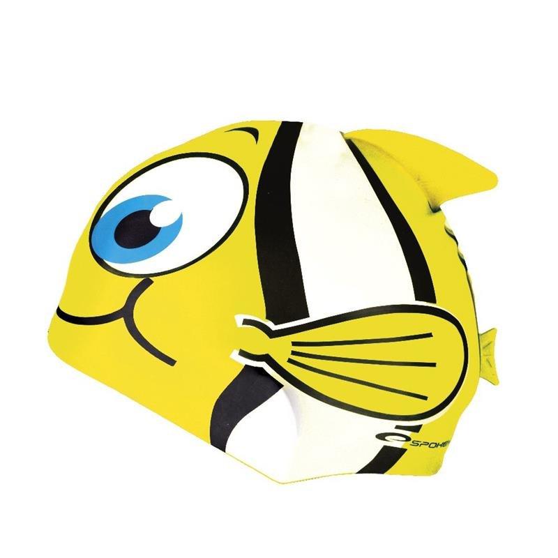 Žlutá dětská dívčí plavecká čepice Spokey