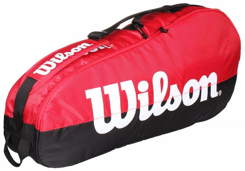 Černo-červená tenisová taška Wilson