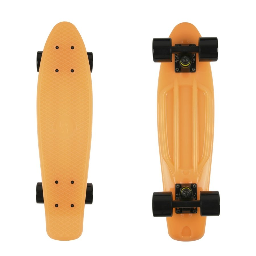 Oranžový pennyboard Fish