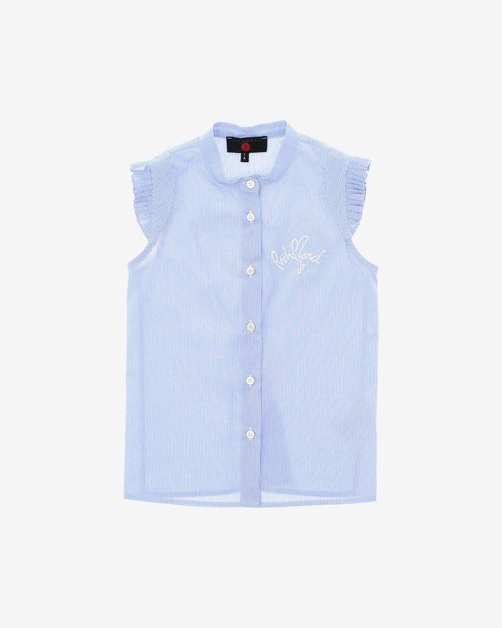 Modrá dívčí košile s krátkým rukávem John Richmond - velikost 116