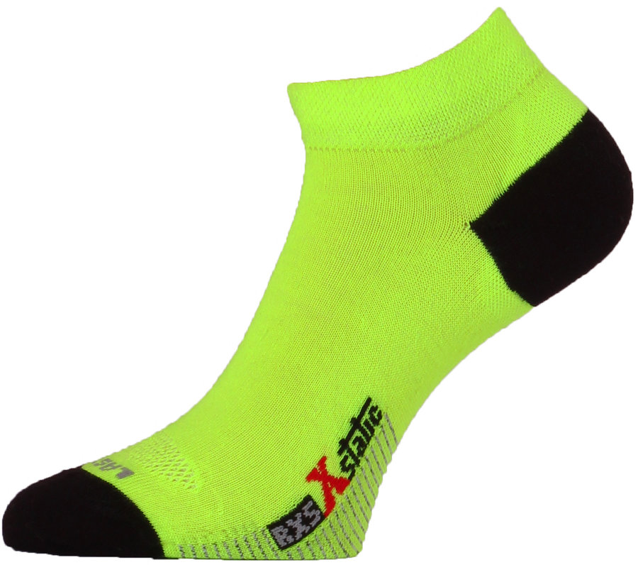 Černo-žluté pánské běžecké ponožky RXS 109, Lasting - velikost 34-37 EU