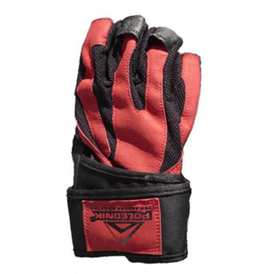 Černo-červené fitness rukavice Polednik